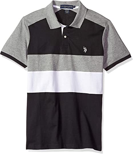 U.S. Polo Assn. Mens Short Sleeve Slim Fit Solid Jersey Polo ...