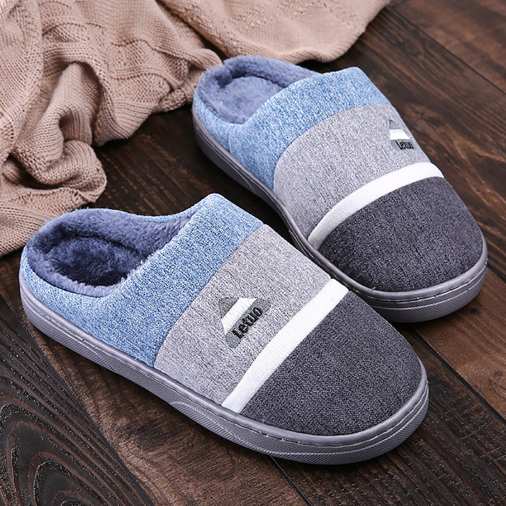 Chickle Home Slippers for Men Memory Foam Winter Warm Indoor Shoes