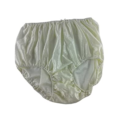 de7775945a642c Classic Ivory Shiny Full Briefs Nylon New Knickers Panties Underwear  Lingerie Men Women (XL(