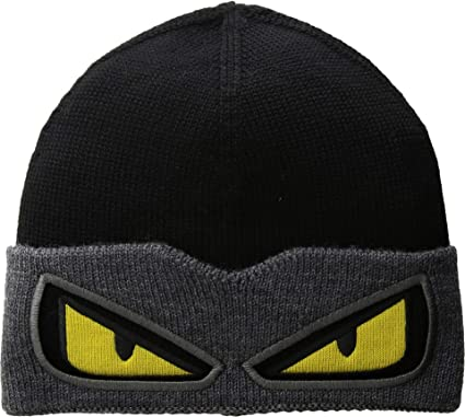 08e004b7293 Image Unavailable. Image not available for. Color  Fendi Kids Baby Boy s  Monster Eyes Knit Hat ...