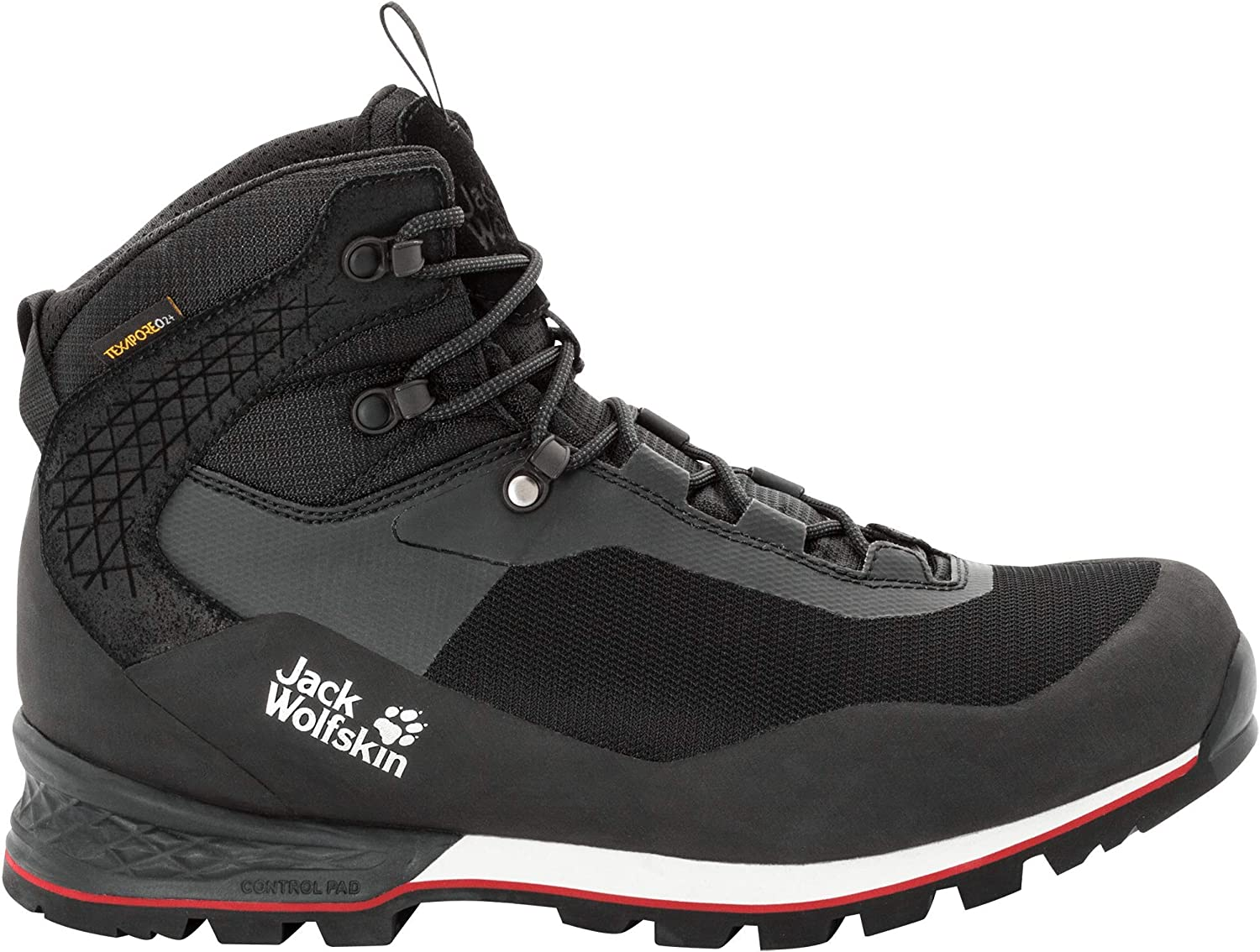 Jack Wolfskin Mens Wilderness Lite Texapore Mid Waterproof Hiking Boot