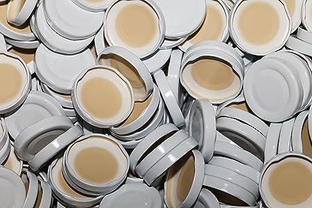 slkfactory - Tapón de Rosca TO48 mm para Botellas de Cristal y Leche (15 Unidades), Color Blanco