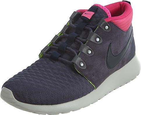 Floración Farmacología Trastornado  Amazon.com | Nike Mens Roshe Run Sneakerboot Gridiron/Dark Obsidian-Pink-Volt  Suede Running, Cross Trainers | Running