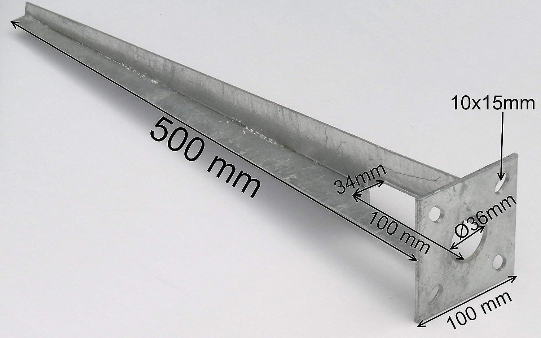 10 Stk Bodenh/ülse Einschlagh/ülse Pfostentr/äger /Ø 34 mm f/ür Maschendrahtzaun Metallzaun Streb Halter
