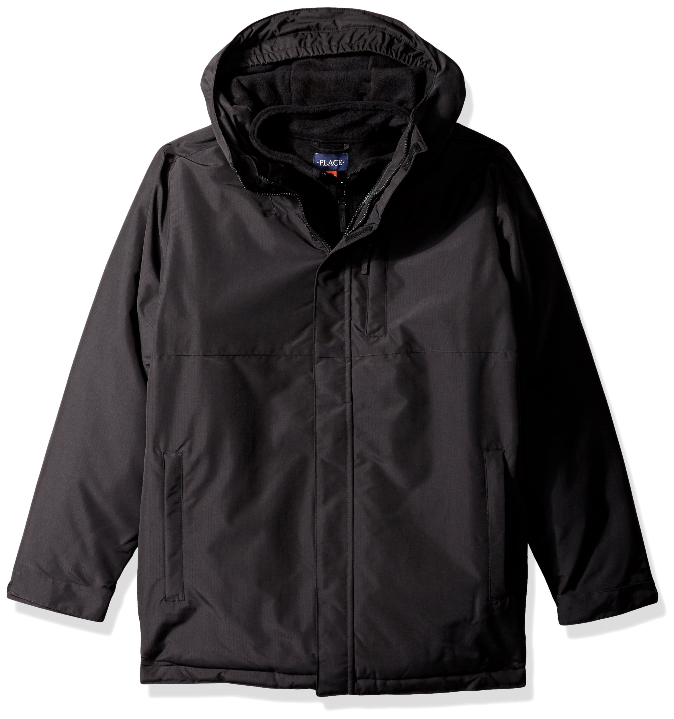 The Children's Place Big Girls' 3-in-1 Jacket, Black, L (10/12)