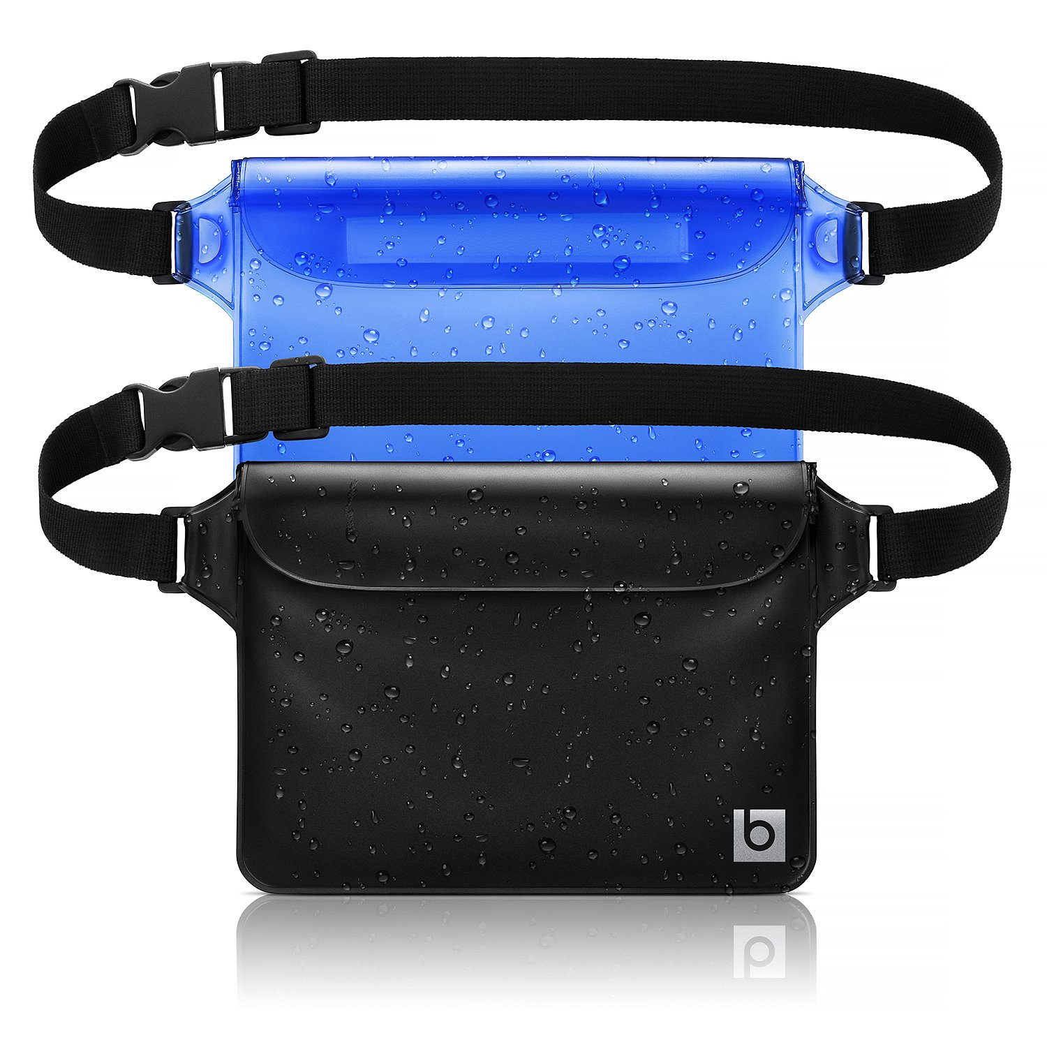 Waterproof Pouch with Waist Strap (2 Pack) | Best Way to Keep Your Phone and Valuables Safe and Dry | Perfect for Boating Swimming Snorkeling Kayaking Beach Pool Water Parks Blue Sky Basics™ Waterproof Pouch 1