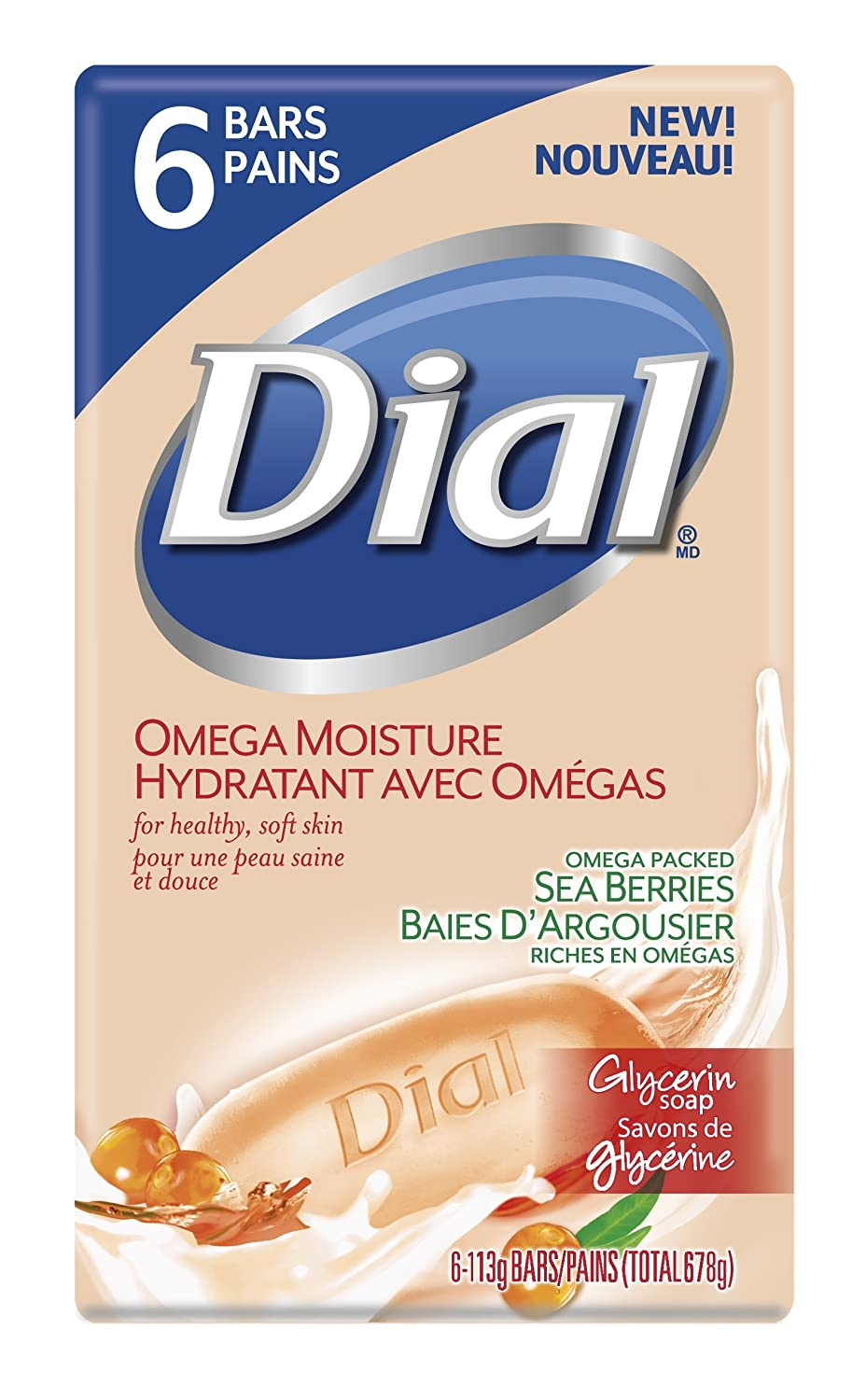 Dial Glycerin Bar Soap, Coconut Water and Bamboo Leaf Extract, 6 Count, 113 Grams (1808838)