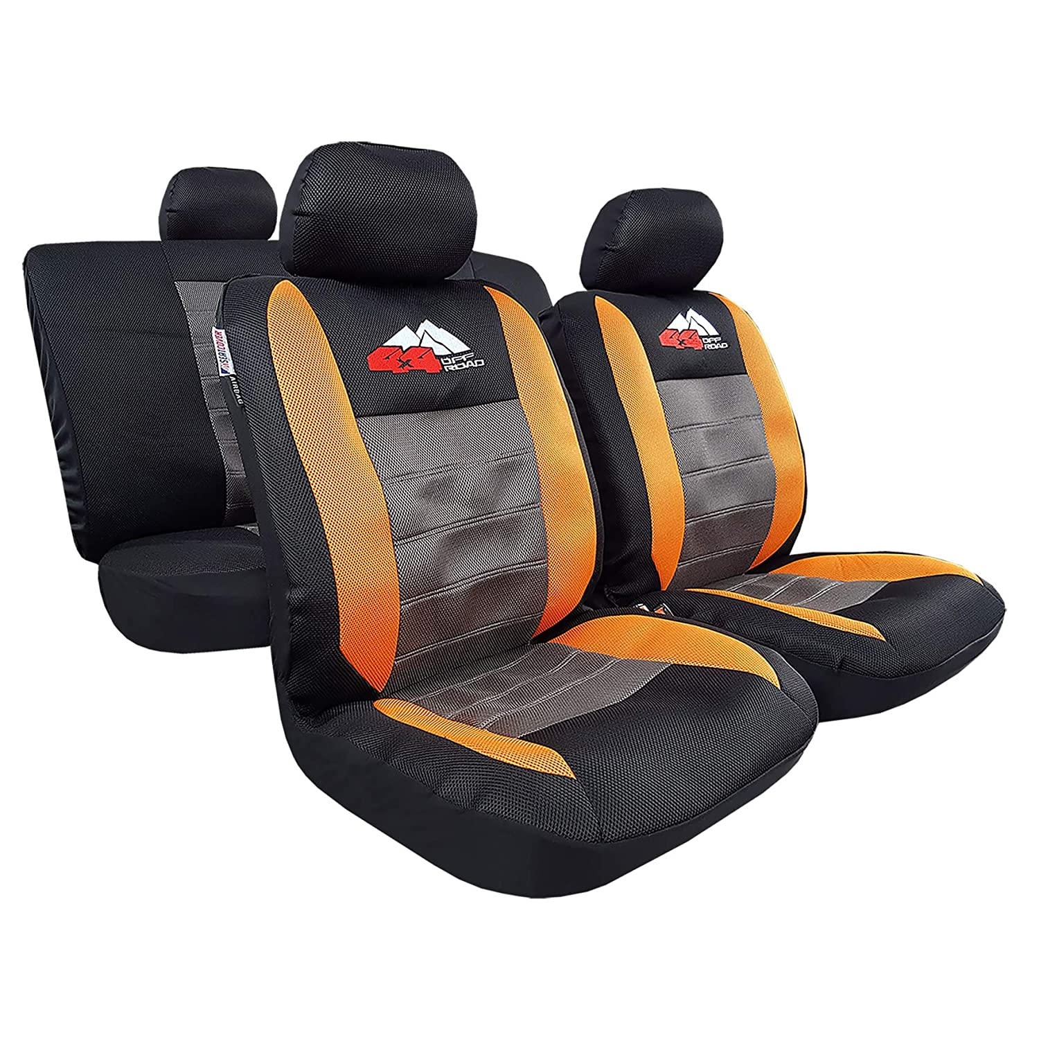 8 Color Options Cool in Summer Warm in Winter 9pcs Complete Set Skull Gray Car Seat Covers Airflow Mesh Embroidery w//t 40//20//40 Split Rear Universal Size for Tacoma