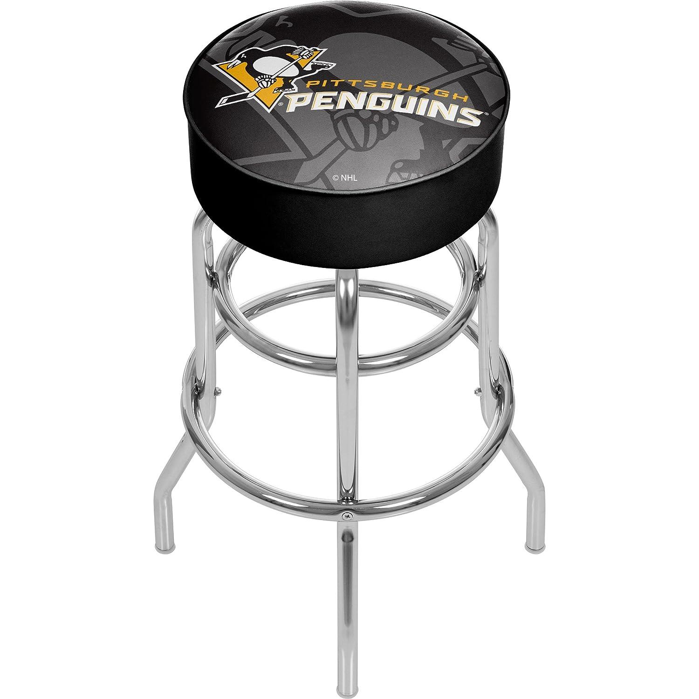 商標Gameroom nhl1000-pp-wm NHLクロムバースツールwith Swivel – 透かし – ピッツバーグpenguinsa   B0743QRCD7