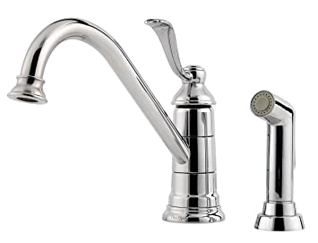 Pfister Lg344pc0 Portland 1 Handle Kitchen Faucet With Side Spray In