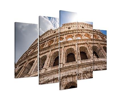 Italien auf Leinwand Wandbild Architekturfotografie Colosseum in Rom