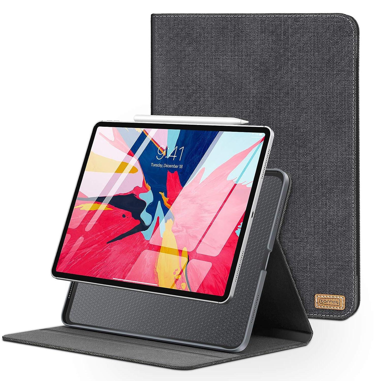 【限定セール!】 TORRAS iPad ブラック Pro ブラック 12.9インチケース (2018) スリム B07LBCGKJD 薄型 フィット フォリオ スタンド PC レザーカバー 保護ハードケース 自動スリープ/スリープ解除 iPad Pro 第3世代用 [iPad Pencil Chargingをサポート] ブラック ブラック B07LBCGKJD, アッと!驚く価格のTシャツ屋さん:deedaa3e --- a0267596.xsph.ru