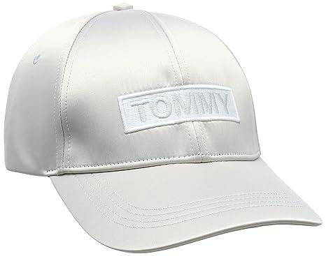 Tommy Hilfiger Tjw Satin Cap, Gorra de béisbol para Mujer, Marfil (Pumice Stone