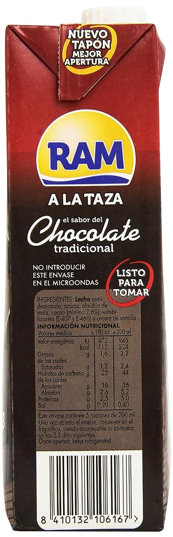 RAM - Chocolate tradicional a la taza 1 litro - Pack de 6 (Total 6 litros): Amazon.es: Alimentación y bebidas