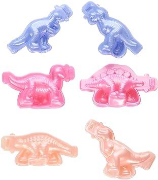 SODIAL(R)) - 6 Moldes de plástico Colorido para Hacer Manualidades en plastilina con Forma de Dinosaurio, Color al Azar: Amazon.es: Juguetes y juegos