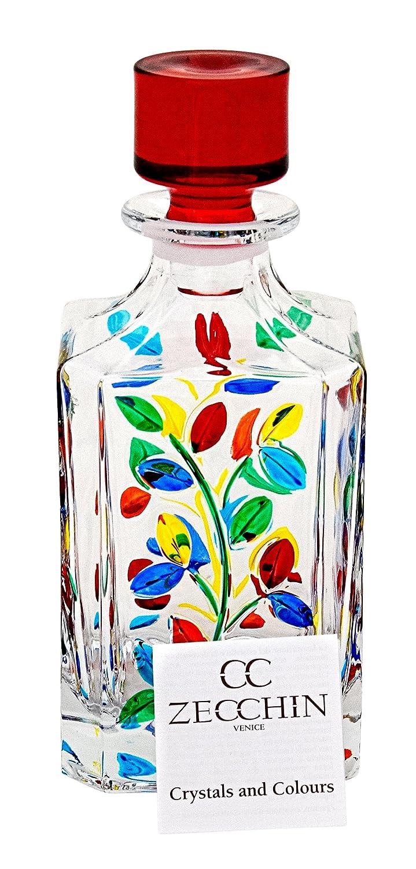 BOTTIGLIA LAURUS Botella Licor cristal Mano Colores pintadas Tradición Venecia: Amazon.es: Hogar