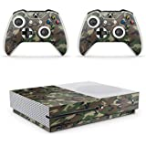Gizmoz n Gadgetz GNG Xbox One S Camo Console Skin Decal Sticker + 2 Xbox One