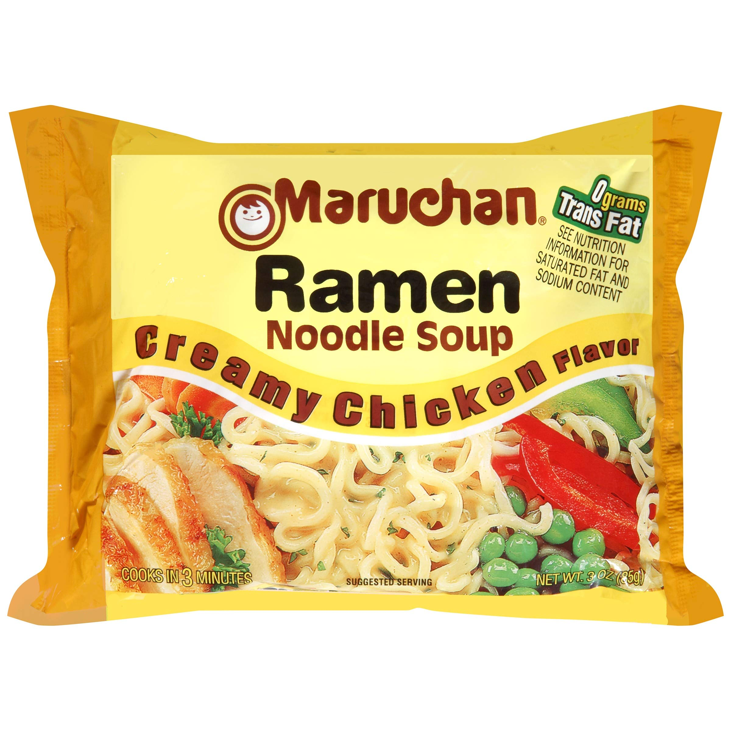 Maruchan Ramen, Creamy Chicken, 3-ounce (Pack of 48)