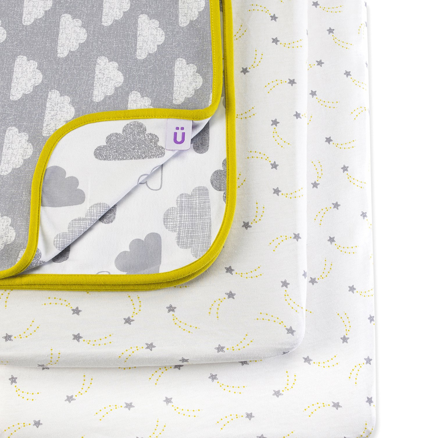 Snuz 3pc. Bedside Crib Bedding Set - Cloud Nine