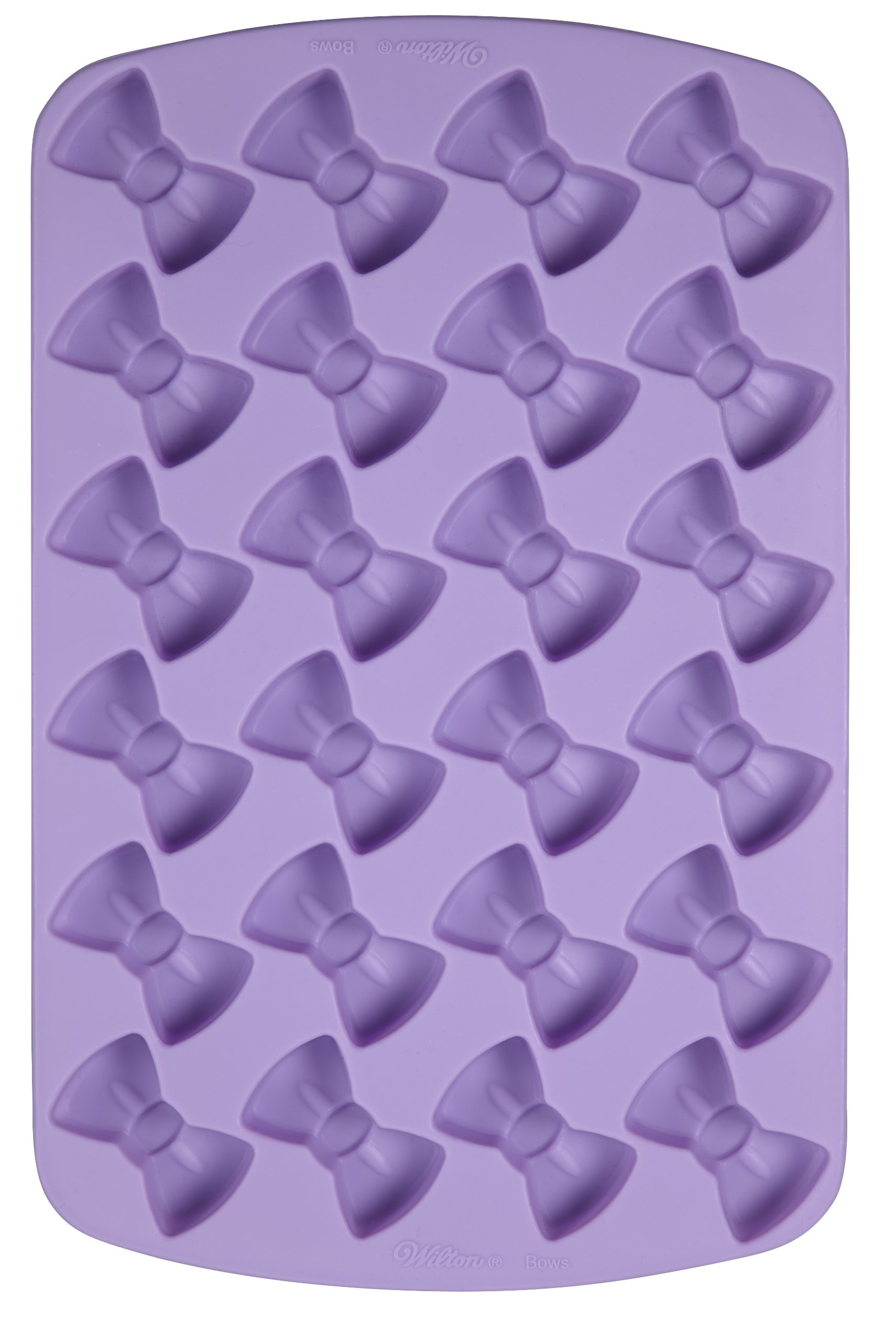 Wilton 2105-6922 Bow Silicone Treat Mold, 24 Cavities- Discontinued By Manfacturer