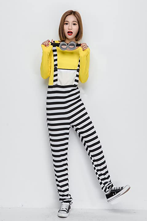 Minion Halloween costume prisoner minion costumes with goggles adult for minionu0027s female thief escape fancy dress  sc 1 st  Amazon.com & Amazon.com: Minion Halloween costume prisoner minion costumes with ...