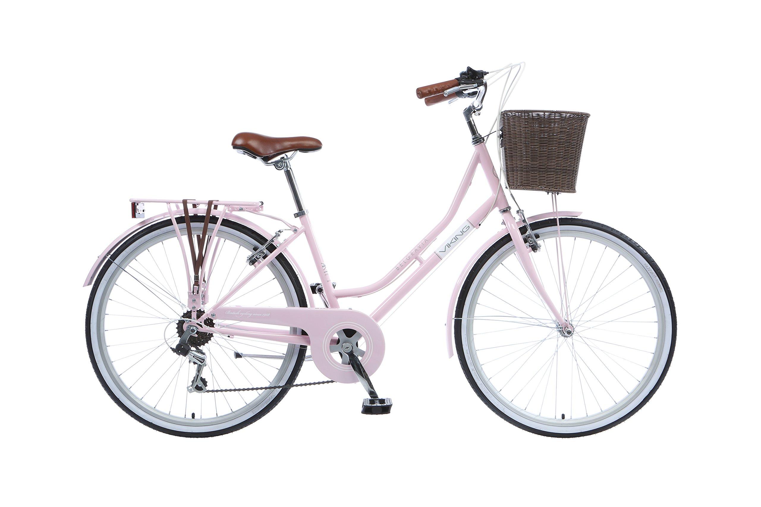 """Viking Belgravia 16"""" Ladies Bike 6 Speed 26"""" Wheel Pastel Pink"""