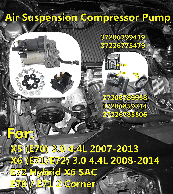 Luftfederung Kompressor 2 Corner 37206789938 37226775479 Auto
