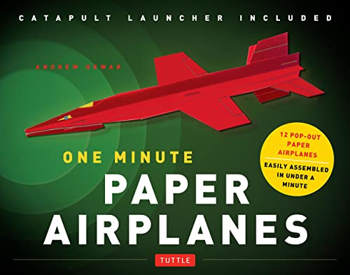 One Minute Paper Airplanes Kit: 12 Pop-Out Planes; Easily Assembled in Under a Minute: Paper Airplane Book with Paper; 12 Projects & Plane Launcher