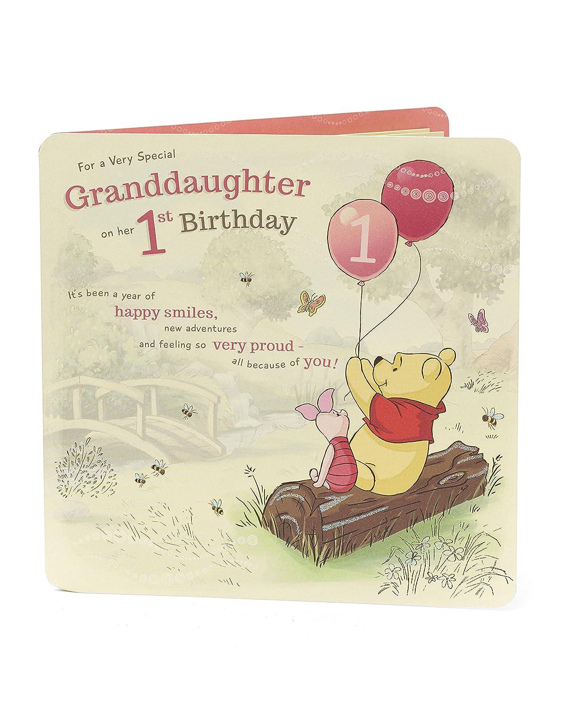 1st Birthday Card Granddaughter