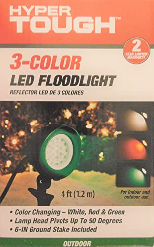 Hyper Tough 3-Color LED Floodlight