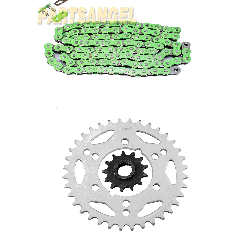 Blue Standard Chain and Sprocket Kit for Polaris 500 Scrambler 4x4 2000 2001 2002 2003 2004 2005 2006 2007 2008 2009 2010 2011