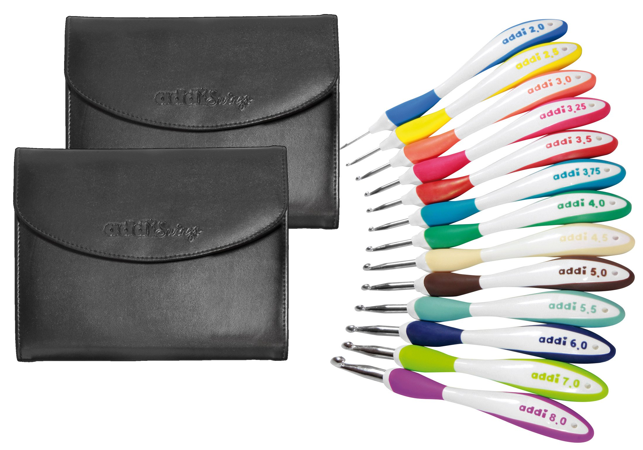 addi Swing Hooks - Set of 13 Hooks In Original addi Leather Cases by addi (Image #1)