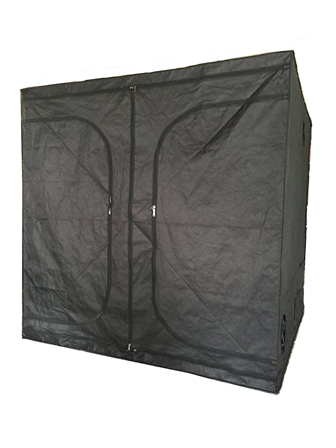 Black Orchid 60x60x140 New Indoor Grow Light Box Tent Aluminum Lined Bud Dark Room for Hydroponic Fan 7 Sizes (60x60x140CM) UK8415 60-60-140