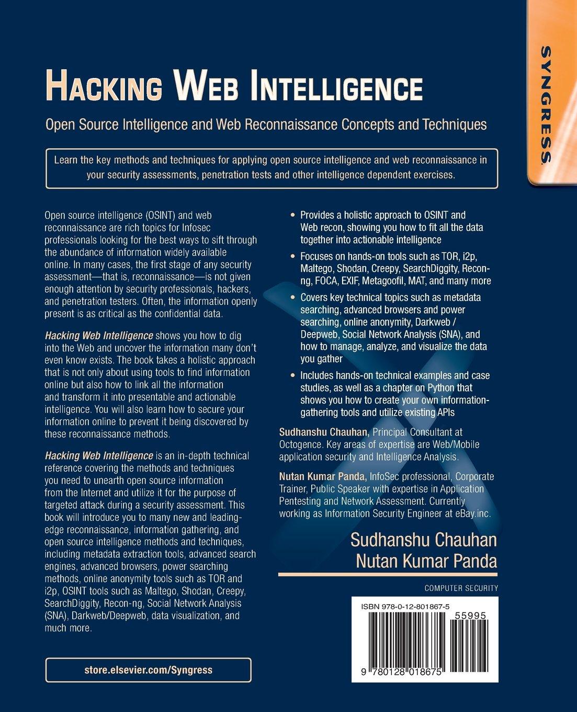 Buy Hacking Web Intelligence: Open Source Intelligence and Web