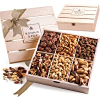 Bonnie & Pop- Nut Gift Basket, in Reusable Wooden Crate, Healthy Gift Option, Gourmet Snack Food Box, with Unique…