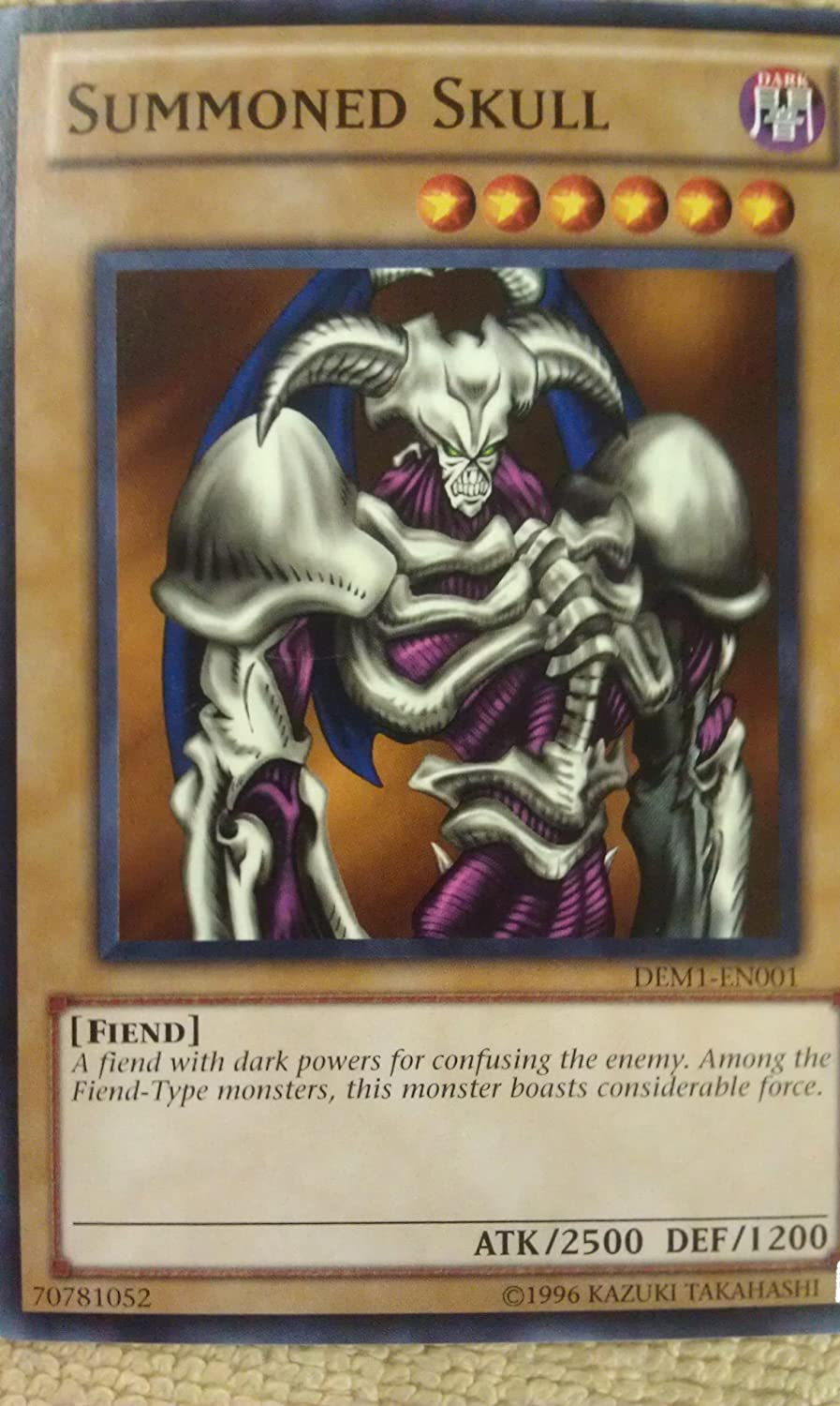 Details about  /3x YuGiOh New Unlimited Common Summoned Skull DEM1-EN001 from Demo Pack Unused