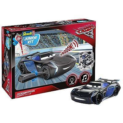 Jackson Storm von Revell Junior Kit - Disney Cars 3 - cooler Bausatz für Kinder ab 4 Jahren zum Schrauben, Basteln und Spielen, robust, mit Light & Sound Effekten - 00861: Toys & Games