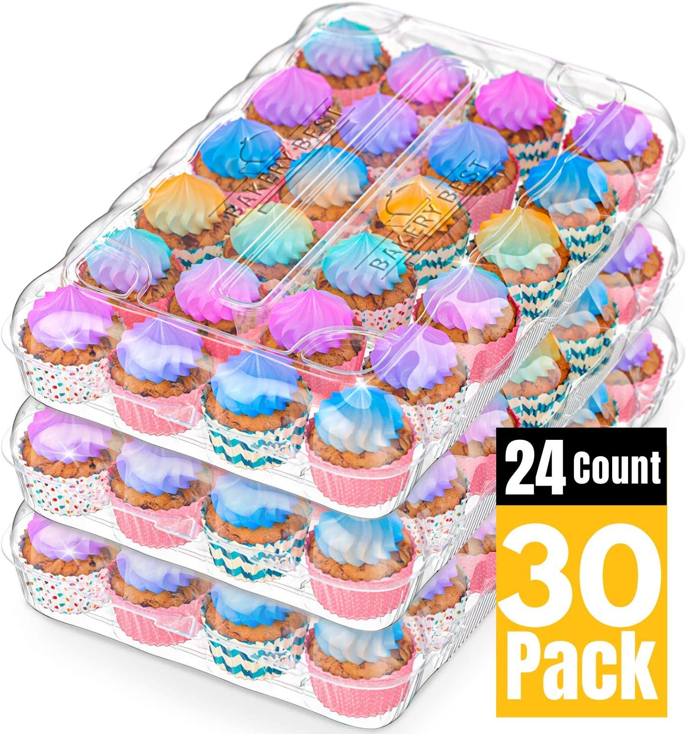the most fashionable BAKERYBEST Cupcake Boxes, Disposable Plastic ...