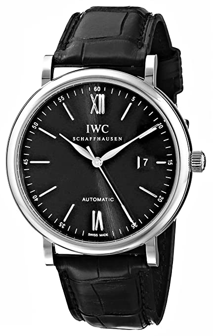 IWC MEN'S 40MM CROCODILE LEATHER BAND STEEL CASE AUTOMATIC WATCH IW356502