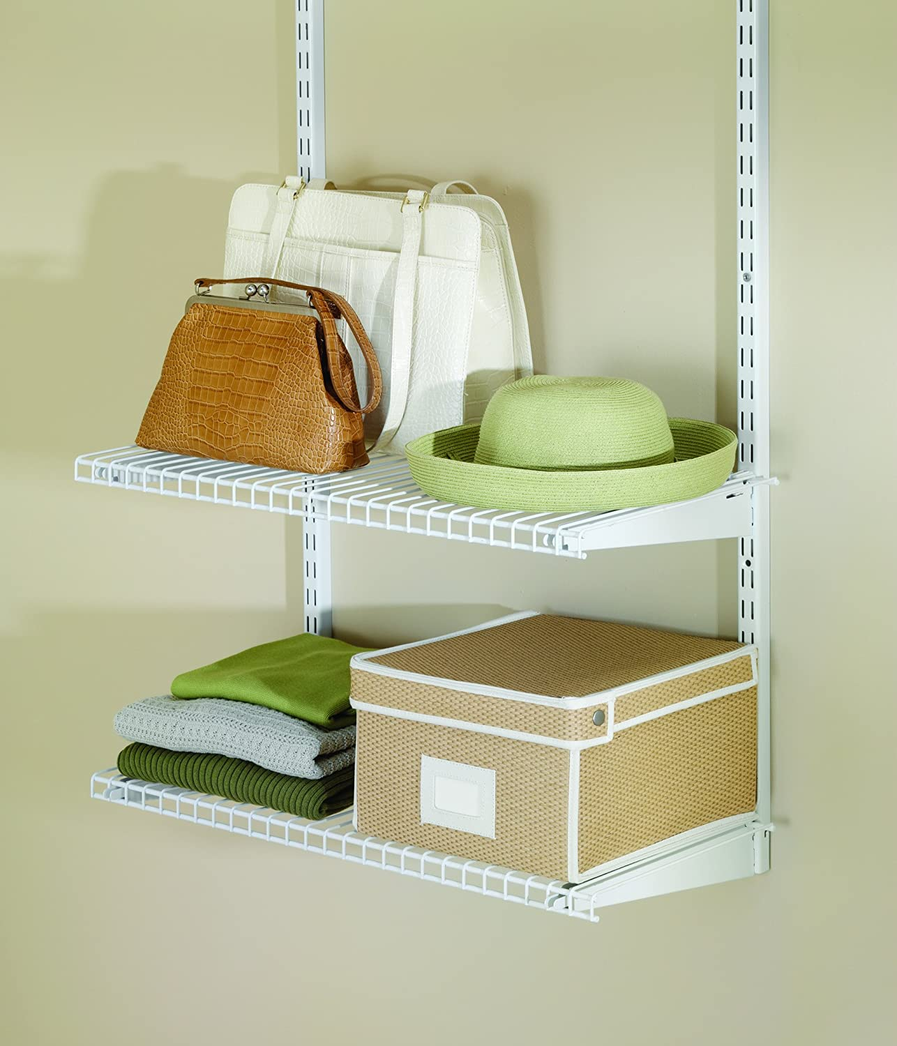 rubbermaid configurations custom closet add on shelving kit white 26 fg3h910 ebay. Black Bedroom Furniture Sets. Home Design Ideas