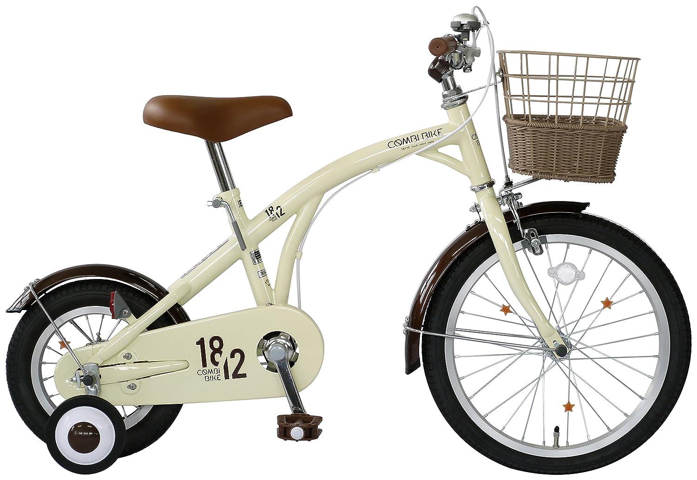 武田産業 キッズバイク COMBI BIKE(コンビバイク) [前輪18インチ 後輪12インチ 補助輪付] KP-CB12/18 アイボリー B072DVN39Q