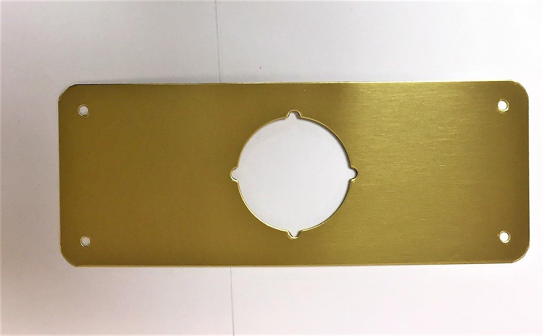 Don-Jo RP-13509-605 Remodeler Plate 3-1//2 X 9 Polished Brass