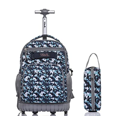6ccbedeb6d99 ... save off 00747 066e3 Tilami Rolling Backpack 18 Inch for School Travel  with Pencil Case