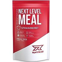 Runtime Next Level Meal - vollwertiger Mahlzeitersatz für langanhaltende Sättigung, Energie, Konzentration und Leistungsfähigkeit, mit Vitaminen und Nährstoffen, 1 Portion (150g) (Strawberry)