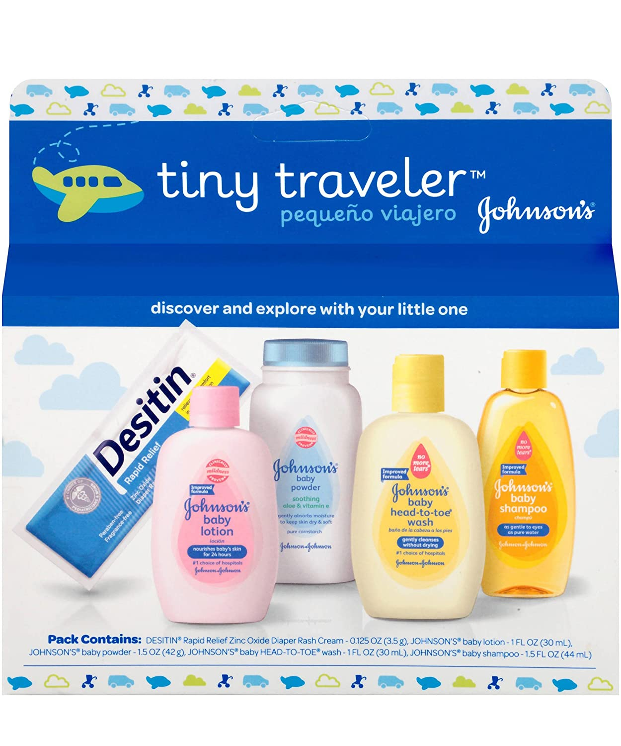 Amazon.com : Johnson & Johnson Baby Take Along Travel Pack (Baby ...