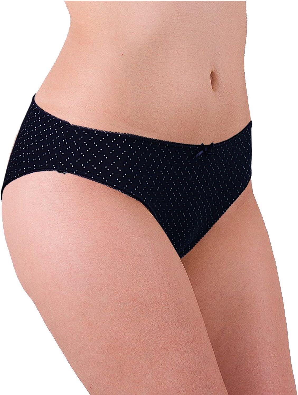 ABClothing Underwear Bikini in Cotone a Vita Bassa Donna Confezione da 6 Colori