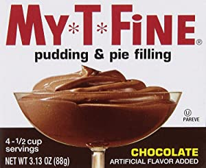 Chocolate Pudding & Pie Filling Mix by My T Fine - Each Box: (4) 1/2 cup Servings (Pack - 2)