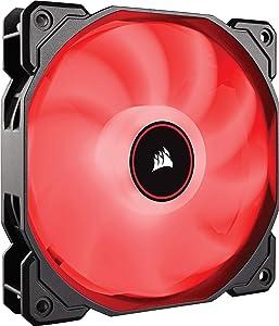 CORSAIR AF140 LED Low Noise Cooling Fan, Single Pack - Red