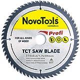 NOVOTOOLS Lama per sega circolare 210 x 30 mm, 60 denti per legno per Festool, Dewalt, Bosch, Makita, ecc. Alta Qualità