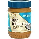 Earth Balance Gluten Free Vegan Peanut Butter, Creamy Coconut, 16 Ounce